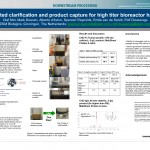 Integrated clarification and product capture for high titer bioreactor harvests
