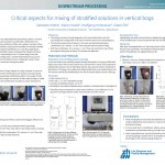 Critical aspects for mixing of stratified solutions in vertical bags