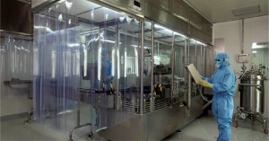 Aseptic processing area for fill and finish