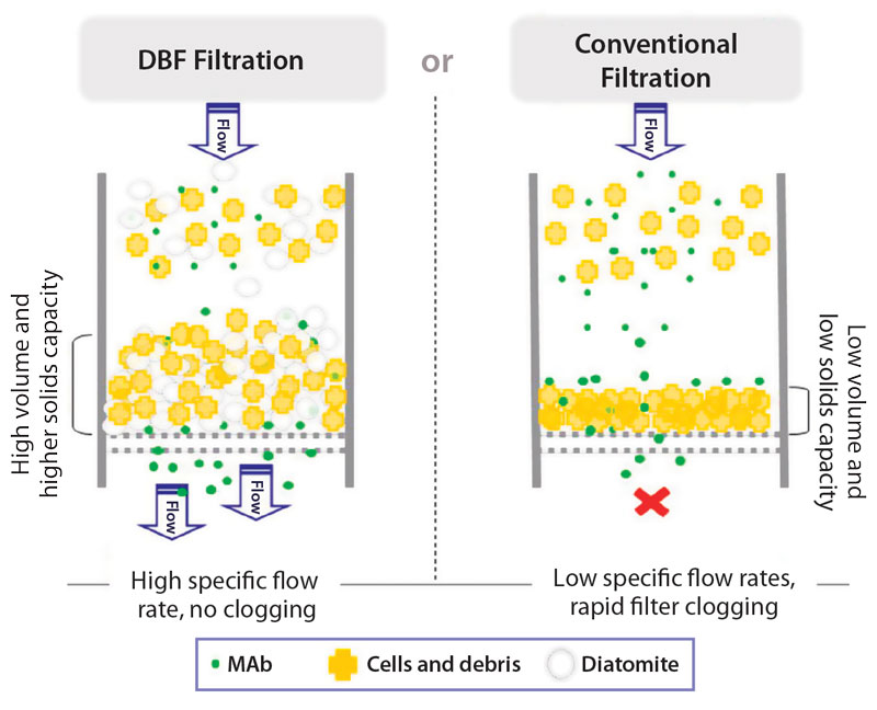 Diatomaceous Earth Filtration Innovative Single Use Concepts For Clarification Of High Density Mammalian Cell Culturesbioprocess International