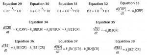 Equations 29–38: