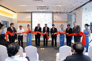 Ribbon-cutting ceremony of the Sartorius Application Center, Shanghai