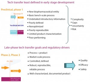 Figure 4: Early (top) and late-stage (bottom) technology transfer goals