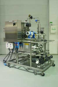 Photo 4: Stainless steel modular columnpacking system contains single-use modules (not shown) for biopharmaceutical production (PHOTO COURTESY OF QUATTROFLOW AND CPC CHANNEL PARTNER, HOLLAND APPLIED TECHNOLOGIES).