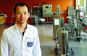 Wataru Kobayahsi (Astellas Pharma) trained in both upstream and downstream processing at BETC in June 2015.