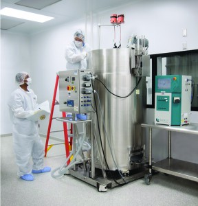 2,000-L stainless steel bioreactor