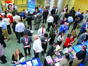 TEC's career fair emphasizes the importance of collaborative and interactive approaches to biopharmaceutical training and industry education. (www.btec.ncsu.edu)